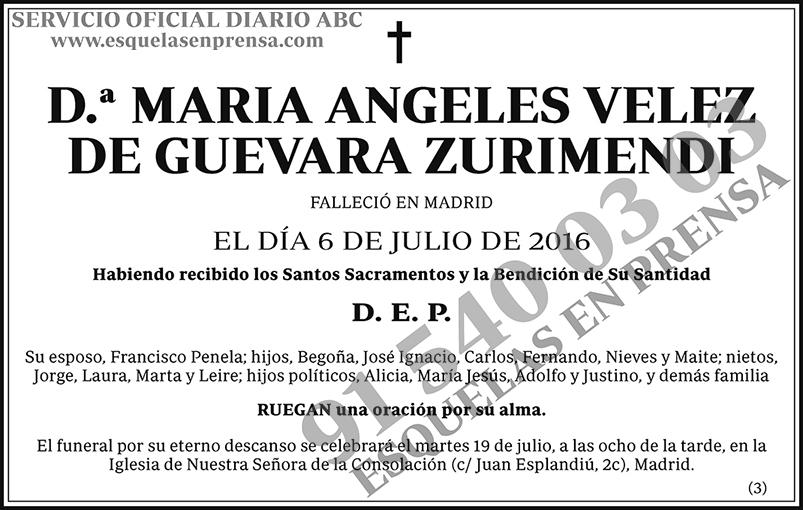 María Ángeles Velez de Guevara Zurimendi